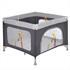 Estexo® klappbares Kinderreisebett und Laufstall inklusive Transporttasche, Farbe Hellgrau Dunkelgrau, Seitenteil mit Reißverschlusseinstieg