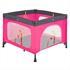 Estexo® klappbares Kinderreisebett und Laufstall inklusive Transporttasche, Farbe Pink Grau, Seitenteil mit Reißverschlusseinstieg