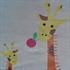 Estexo® klappbares Kinderreisebett und Laufstall inklusive Transporttasche, Farbe Tuerkis Grau, Seitenteile mit Giraffen Motiv