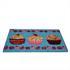 Kokosfaser Fussmatte 40 x 60 cm mit rutschhemmendem Gummi, Motiv Cupcakes, Farben Natur, Hellblau, Rosa und Rot