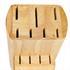 Messerblock von Gero fuer bis zu 11 Messer mit Gummifuessen fuer sicheren Stand, Detailansicht von Messerschlitzen