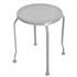 5 teiliges Metall Garten Set in der Farbe grau mit Gatenbank, die sich in einen Tisch umwandeln laesst