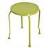Hocker von 5 teiligem  Metall Garten Set in der Farbe gruen mit Gatenbank, die sich in einen Tisch umwandeln laesst