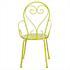 Stuhl von 5 teiligem  Metall Garten Set in der Farbe gruen mit Gatenbank, die sich in einen Tisch umwandeln laesst
