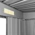 Metall Geraeteschuppen Farbe Anthrazit RAL 7016 Groesse 190 x 121 x180 cm mit Fundament, langlebig und wetterfest