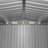 Metall Geraeteschuppen Farbe Anthrazit RAL 7016 Groesse 204 x 132 x185 cm mit Fundament, langlebig und wetterfest