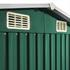 Metall Geraeteschuppen Farbe Gruen RAL 6005 Groesse 204 x 132 x185 cm mit Fundament, langlebig und wetterfest
