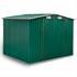 Metall Geraeteschuppen Farbe Gruen RAL 6005 Groesse 205x 257 x178 cm mit Fundament, langlebig und wetterfest