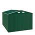 Geräteschuppen Metall grün 257x312x192 cm
