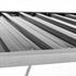 Holzunterstand mit Schraegdach in der Farbe Anthrazit, aus verzinktem Profilblech mit Profilversteifung fuer erhoete Stabilitaet,  mit Dachueberstand