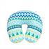 Nackenhoernchen mit Microperlen Fuellung, Nackenkissen Farbe Blau Ethnodesign, Nackenrolle waschbar bei 30° Maschinenwaesche