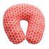 Nackenhoernchen mit Microperlen Fuellung, Nackenkissen Farbe Blumendesign Orange Rot, Nackenrolle waschbar bei 30° Maschinenwaesche