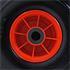PU Sackkarrenrad 3.00-4 Reifen Ø 260 mm Vollgummi für Sackkarre mit Nadelllager