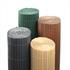 PVC Sichtschutzmatten aus Kunststoffröhrchen in verschiedenen Farben