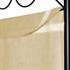 Vierteiliger Paravent mit Stahl Rahmen in der Farbe Schwarz, Polyesterflies Bespannung in der Farbe Beige, Hoehe ca. 180 cm