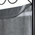 Vierteiliger Paravent mit schwarzem Stahl Rahmen und Polyesterflies Bespannung in grau, geeignet als Raumteiler, Umkleide, Sichtschutz oder Trennwand