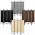Vierteiliger Paravent mit Stahl Rahmen in der Farbe Schwarz, Polyesterflies Bespannung in den Farben Beige, Braun, Grau oder Schwarz waehlbar, Hoehe ca. 180 cm