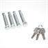 Absperrpfosten Schlüssel und Befestigungsmaterial