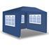 Pavillon 3x3 m mit 3 Seitenwänden blau