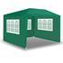 Estexo® Garten Pavillon Farbe Weiss, Blau und Gruen Groesse 300x300x240 cm mit drei Seitenwaenden, wasserdicht und witterungsbestaendig