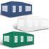 Estexo® Garten Pavillon Farbe Weiss, Blau und Gruen Groesse 300x600x240 cm mit 4 Seitenwaenden, wasserdicht und witterungsbestaendig