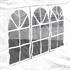 Estexo® Garten Pavillon Farbe Weiss Groesse 300x300x240 cm Detailansicht von Seitenwand mit Fenstern