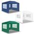 Estexo® Garten Pavillon Farbe Weiss, Blau und Gruen, mit drei Seitenwaenden und Fenstern