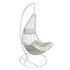 Polyrattan Hängesessel mit Gestell weiß Sitzkissenbezug mit Reißverschluss