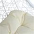 Polyrattan Hängekorbsessel weiß Sitzkissenbezug