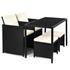 Exklusive Polyrattan Sitzgruppe Farbe Schwarz meliert, Sessel mit klappbarer Rückenlehne, Set platzsparend zusammenstellbar, witterungs- und UV-bestaendig