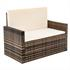 Polyrattan Lounge braun – Sofa mit Kissen