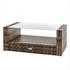 Polyrattan Lounge braun – Tisch mit Sicherheitsglasplatte gehärtet