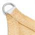 HDPE Sonnensegel Farbe Beige  mit Edelstahlringen, besonders reissfest und witterungsbestaendig
