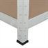 Steckregal Werkstattregal 160x160x40 cm, verzinkt, Belastbarkeit 640 kg