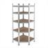 Steckregal Eckregal verzinkt mit 5 Böden, stabil, MFD-Böden, leichte Montage, geeignet für Keller, Garage, Werkstatt
