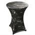 Stehtischhussen von Estexo mit 80 cm Tischdurchmesser, Dekor Anthrazit, Material 92% Polyester und 2% Spandex, buegelfrei und waschbar bei 30°
