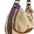 Umhängetasche Leder/Jute/Baumwolle braun, tragende Elemente mit pflanzengegerbtem Leder verstärkt
