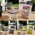 Weichstuhlkissen Farbe Anthrazit, Kiwi oder Blumendesign Set 4 Stueck, 50% Baumwolle, 50% Polyester, mit 4-fach Steppung und formstabiler Fuellung