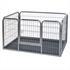 Stabiler Tierlaufstall, Welpenauslauf mit Einlegeboden und Tuer, super leichter Aufbau