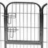 Welpenauslauf aus Metall, Tür mit Sicherheitsverriegelung