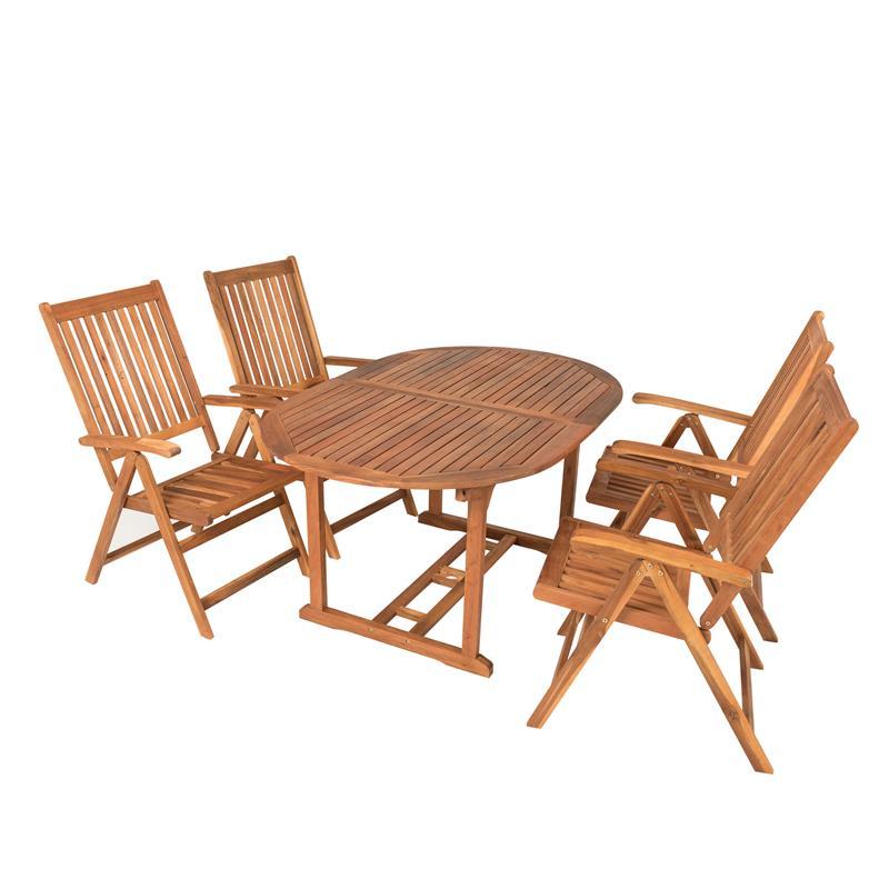 Akazienholz Gartenmobel Set Mit Gartentisch Ausziehbar