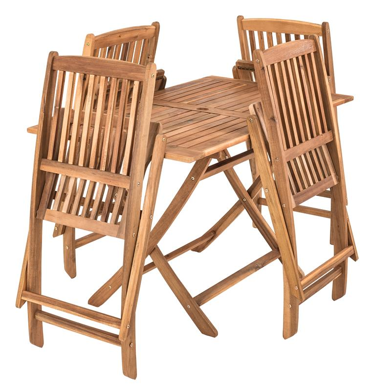Holz Balkonmöbel Set klappbar 5 teilig