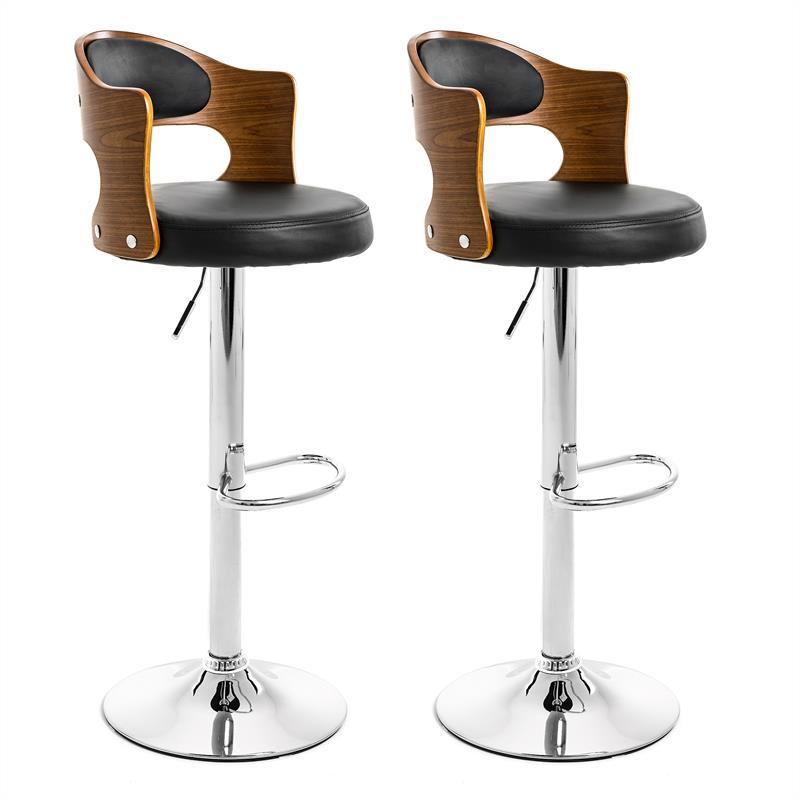 estexo barhocker mit lehne 2er. Black Bedroom Furniture Sets. Home Design Ideas