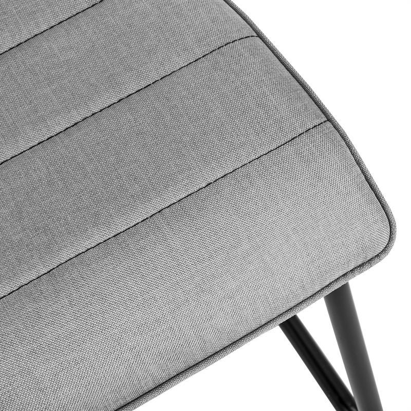 2 esszimmerst hle mit stoffbezug hellgrau for Esszimmerstuhle stoffbezug