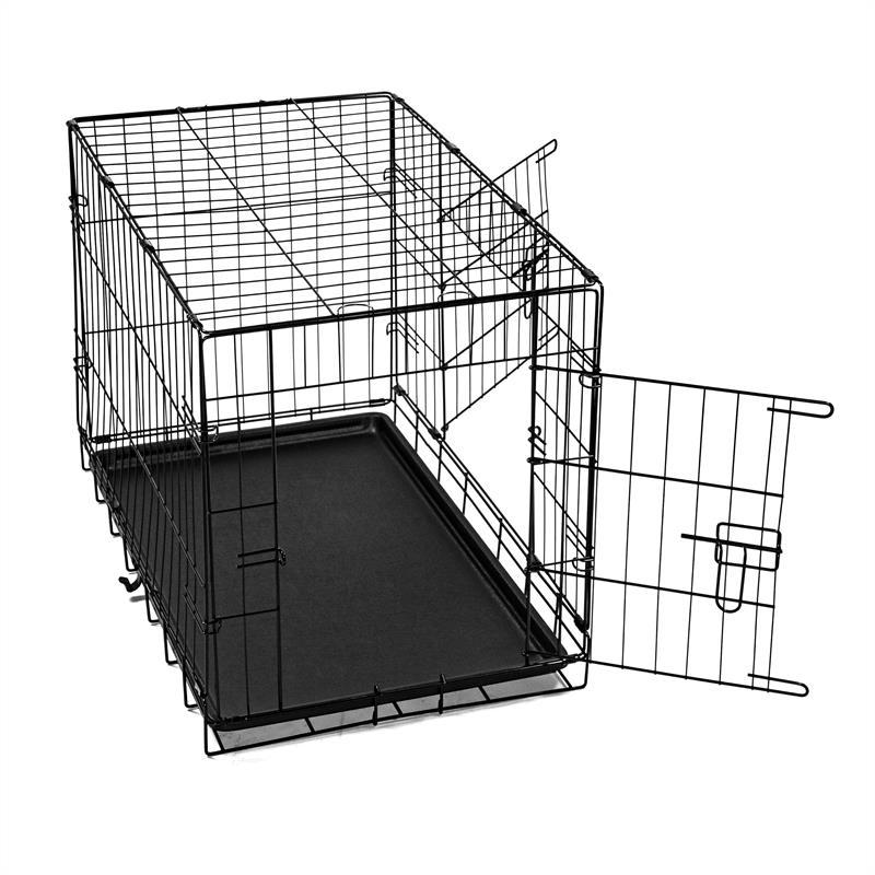 Hundetransportbox-mit-Bodenwanne-Groesse-L-Zweituerig-Faltbar-003.jpg