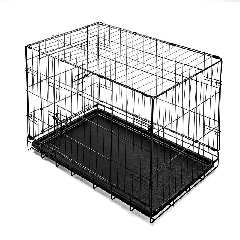 Hundetransportbox-mit-Bodenwanne-Groesse-L-Zweituerig-Faltbar-005.jpg