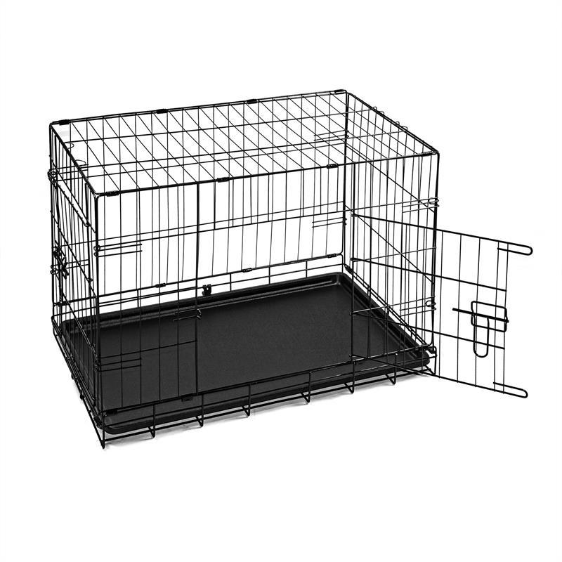 Hundetransportbox-mit-Bodenwanne-Groesse-M-Zweituerig-Faltbar-004.jpg
