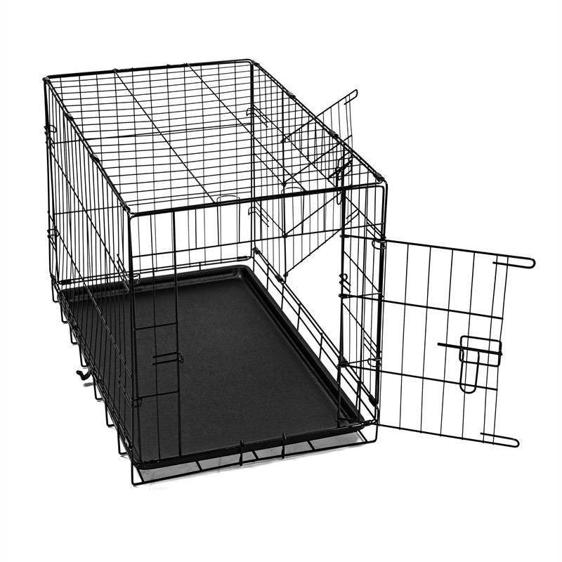 Hundetransportbox-mit-Bodenwanne-Groesse-S-Zweituerig-Faltbar-003.jpg