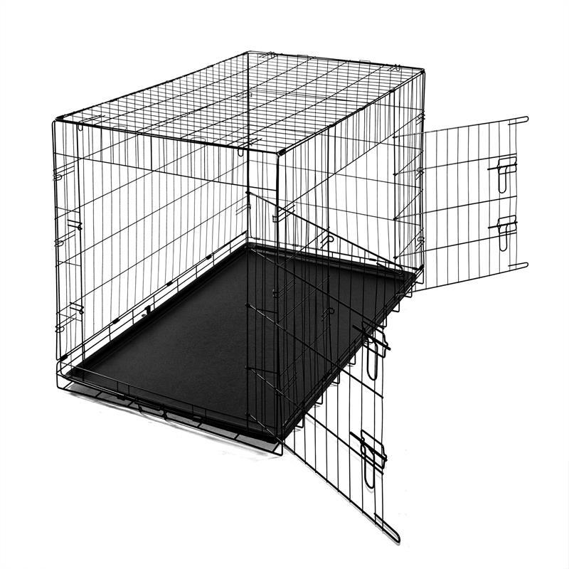 Hundetransportbox-mit-Bodenwanne-Groesse-XXL-Zweituerig-Faltbar-001.jpg