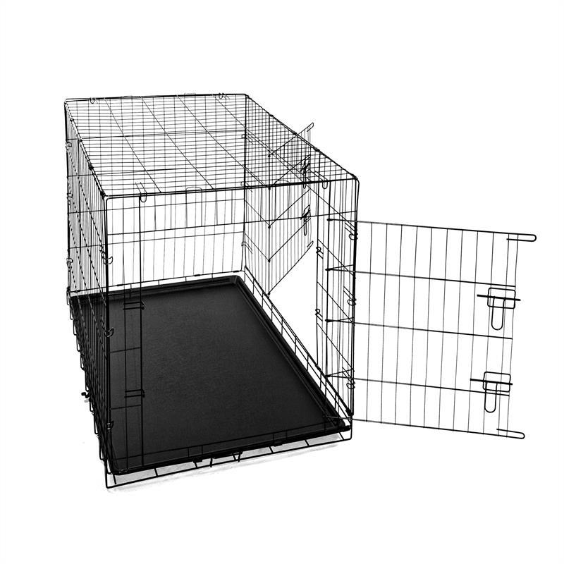 Hundetransportbox-mit-Bodenwanne-Groesse-XXL-Zweituerig-Faltbar-002.jpg